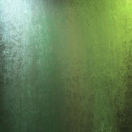 blue and green abstract background design illustration with painted wallpaper  lighting and sponge texture and copyspace for ad or brochure text Foto de archivo