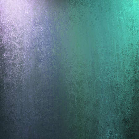 canvas on wall: blue and green abstract background with lighting and sponge texture and copyspace for ad or brochure text
