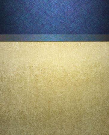 elegante formele blauw en crème achtergrond Stockfoto