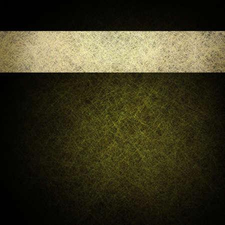 elegant green gold background with dark black edges and classic white parchment ribbon design layout Standard-Bild