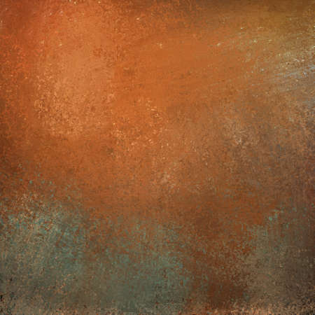 copper: burnt orange background with graffiti grunge vintage texture and bright highlight on gray stone illustration with copyspace for text or title