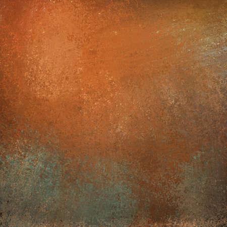 Burnt Orange Hintergrund mit graffiti grunge Jahrgang Textur und hellen Highlight auf grauem Stein Illustration mit copyspace für Text oder Titel