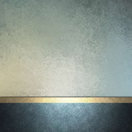background texture: white and light and dark blue background with gold trim ribbon layout decoration for sign or template card with copy space and vintage grunge texture and soft faded pastel color for Easter Stock Photo