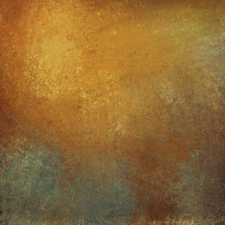 graffiti brown: de oro de fondo de color naranja con el graffiti grunge textura vintage y reflejo brillante en la ilustraci�n de piedra gris Foto de archivo