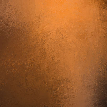 copper: copper colored orange background with black edging and vintage grunge texture in graffiti style smeared paint with copy space for ad or brochure for Thanksgiving or Halloween or autumn layout designs