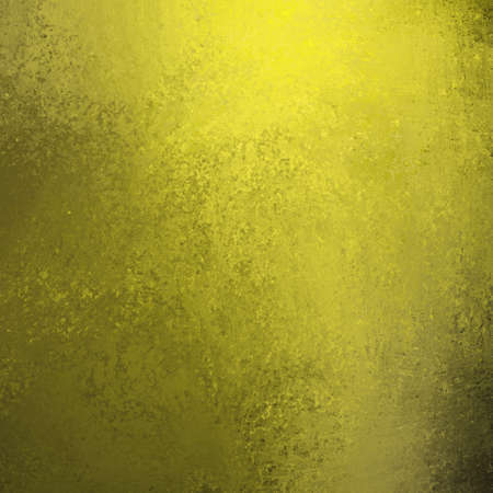 light gold and dark black background wall with vintage grunge paint texture illustration  and yellow highlights in corner of top border and copy space Stock Illustration - 12865986