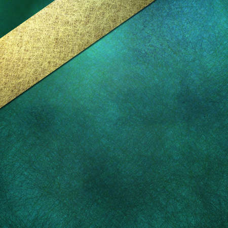 teal blue background, sign, or cover, with soft lighting, faint grunge scratch texture and shading, angled light gold stripe layout design photo