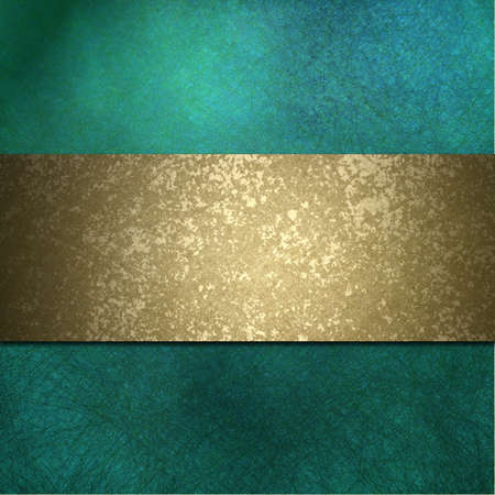 elegant turquoise teal blue background with grunge texture and copy space photo