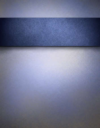 highlight: soft blue textured parchment background with highlight and dark blue strip for adding your own text or images Stock Photo