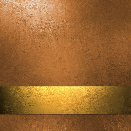 gold metal: copper and gold colored background with grunge texture, elegant ribbon stripe layout and design