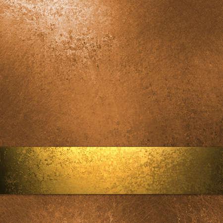 El cobre y el fondo de oro de color con la textura del grunge, el diseño elegante franja de cinta y el diseño Foto de archivo - 13002340