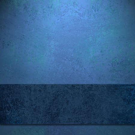 Elegante Saphir blauer Hintergrund mit dunkelblauer farbiges Band Design Layout mit alten antiken Schmutzbeschaffenheit Standard-Bild - 13002343