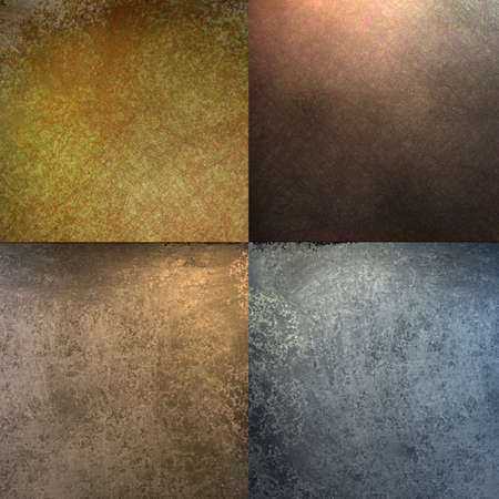 grunge textures: faded brown, blue, and gold background blocks in different colors, old grunge textures, and soft lighting