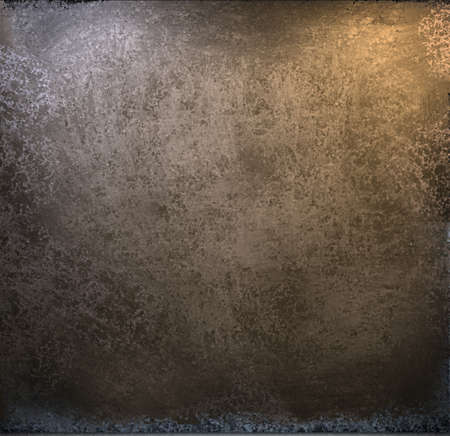 leathery: beautiful gold and brown background paper with vintage grunge scratches and texture with black scuffed edges and old faded antique design with copy space for ad brochure or announcement invitation Stock Photo