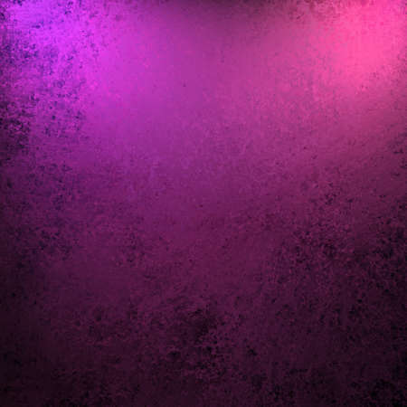 dramatic purple pink and black color background with old vintage grunge texture and bright spotlight on frame of border for copy space for announcement or invitation design layout Stock Photo - 13002404