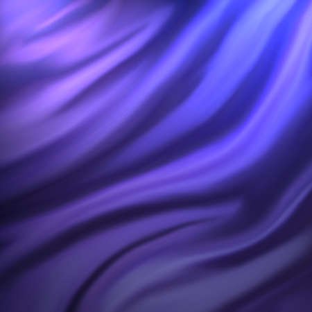 black silk: abstract blue and purple cloth background or water liquid illustration with wavy flowing folds and dark creases in the smooth satiny looking material design with curves and shine textured surface Stock Photo