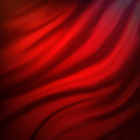 abstract red and pink cloth background or water liquid illustration with wavy flowing black folds and dark creases in the smooth satiny looking material design with curves and shine textured surface Stock Illustration - 13002351