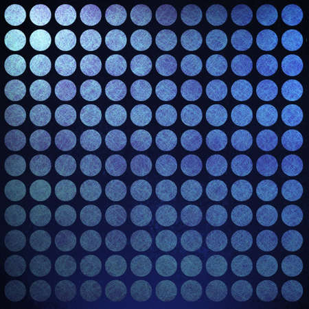 Abstract blue polka dot background with retro vintage grunge texture and black vignette border on frame Stock Photo - 13002409