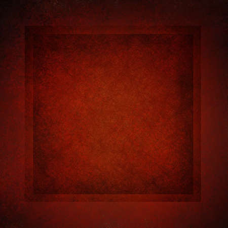 dark red background with vintage parchment and grunge textured frame and elegant border with black vignette burnt edges on layout design with copy space for Christmas ad Stock Photo - 13002410