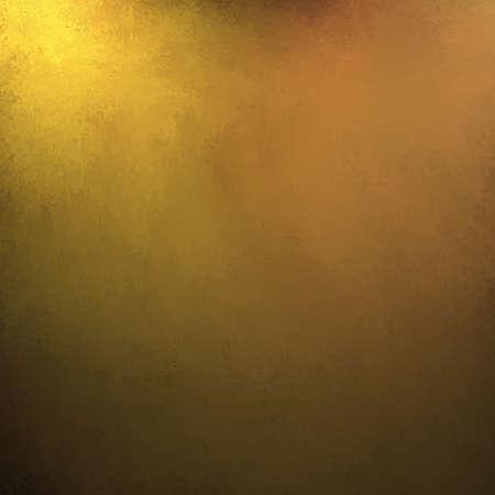gouden achtergrond met rijke gele en bruine of sepia kleuren met vintage grunge textuur en zwarte vignet frame grens van glanzend gehamerd metaal illustratie Stockfoto