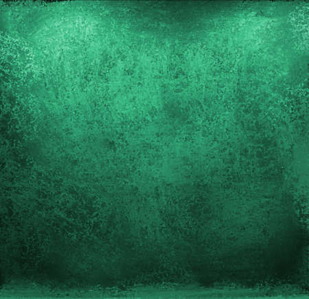 green and black: bright blue green background with vintage grunge texture and black dirty edges design with copyspace for text or title for announcements or brochures Stock Photo