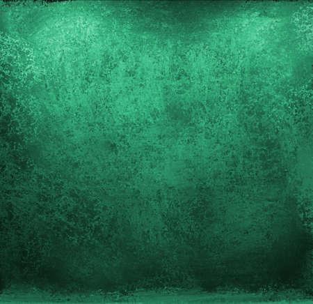 Fondo verde azul brillante con textura grunge vintage y diseño de bordes sucios negros con copyspace para texto o título para anuncios o folletos Foto de archivo - 13143359