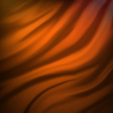 abstract yellow and orange cloth background or water liquid illustration with wavy flowing black folds and dark creases in the smooth satiny looking material design with curves and textured surface Stock Illustration - 13143351