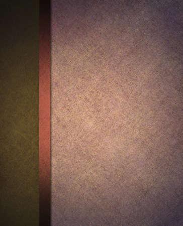 창백한 빛 핑크와 웹 사이트 템플릿 레이아웃이나 형식적인 고전 메뉴 배경에 배너 사이드 바, 리본 줄무늬와 어두운 올리브 녹색 배경