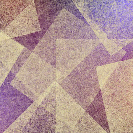 abstract purple background and white parchment texture background paper with geometrical shapes in design layout or artwork photo