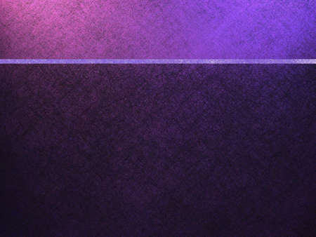 website header: purple background or website template with header banner bar stripe in blue and purple and dark parchment texture background on bottom with copy space Stock Photo