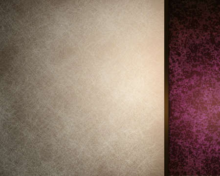 white background with burgundy pink side bar for website design template or formal background for menu or brochure, with vintage grunge texture photo