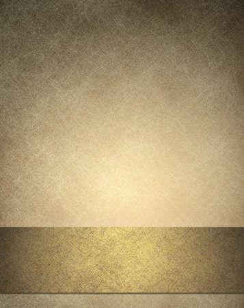 bröllop: guld bakgrund eller årsdag eller bröllop bakgrund med guld band eller nedre bar layout för webb-mall design, har bakgrund konsistens av vita repor på vintage tapet färg