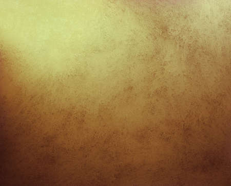 gold background or brown paper with gold highlights with abstract grunge background texture of dark brown color, leather background illustration wallpaper or vintage plaster wall background in yellow