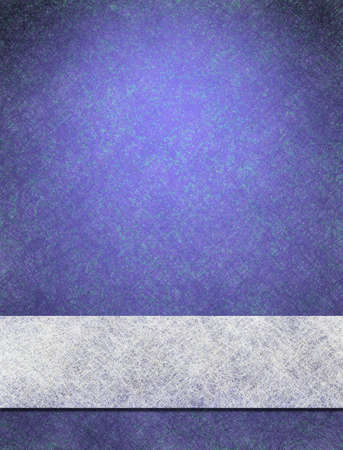 blue background in vintage wallpaper style with ribbon of paper in white parchment background texture of old stripe, for blue website template design layout or elegant background for book cover photo