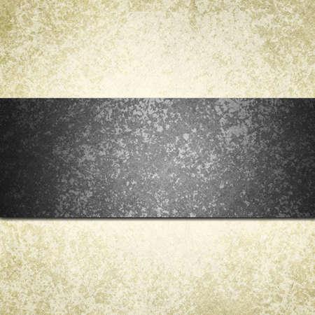wedding backdrop: formale sfondo bianco con un nastro nero o striscia e vintage texture di sfondo grunge, carta bianca e lo sfondo nero per invito a nozze o di un elegante design modello di brochure dello sguardo vecchia carta Archivio Fotografico