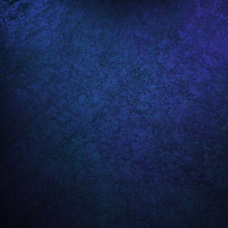 blue background with vintage grunge background texture, black vignette border edge on blue wallpaper design for web template background or abstract blue paper brochure layout color in dark royal  Stock Photo - 13408337