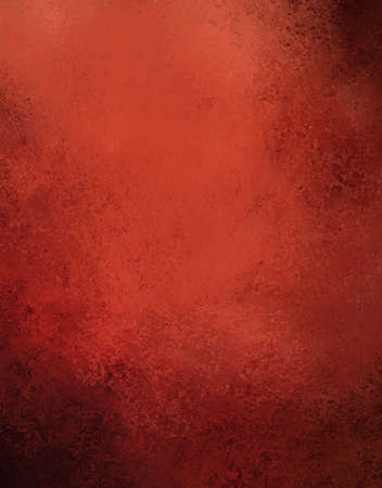 abstract red background with old black vintage grunge background texture, grungy sponge design on border, red paper or red wallpaper for Christmas background or web template background or book cover photo