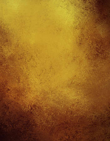 abstract gold background with brown color design on border and black vintage grunge background texture, brown gold paper for golden anniversary announcements or wedding background invitations Stock Photo - 13408360