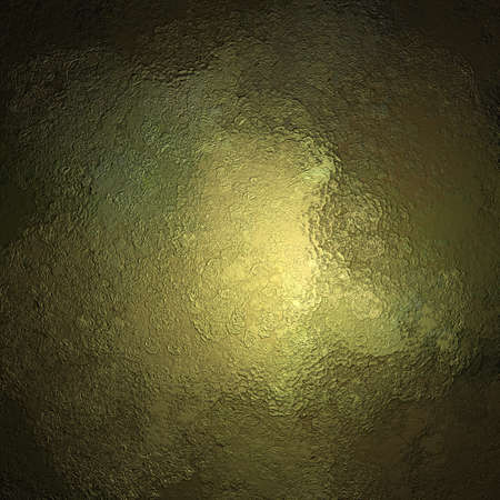green and gold: abstract metallic background texture on green gold background with grunge black border, metal background or yellow gold paper or painted cement background for elegant brochure or web design