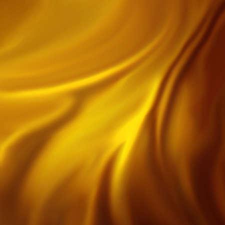 tela seda: resumen de antecedentes de oro de lujo de tela o una onda líquida o pliegues ondulados de material grunge textura de terciopelo de seda de satén o de fondo de oro de lujo de Navidad o de diseño de papel tapiz elegante, fondo amarillo Foto de archivo