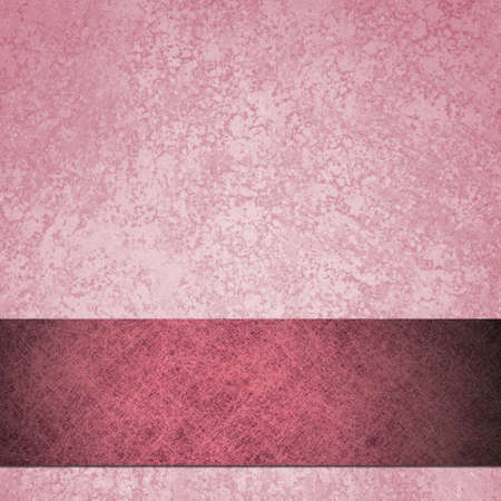 old pink background paper with vintage grunge background texture of sponge and parchment paper design, dark pink ribbon stripe across bottom border for baby girl birth announcement