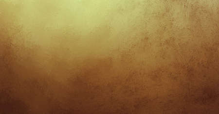 luxury background: old gold background with brown color border and vintage grunge background texture abstract design for website template background layout banner or old vintage paper or warm vintage background wall Stock Photo