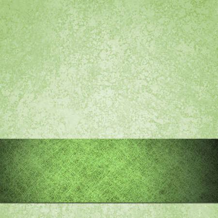 old green background paper with vintage grunge background texture of sponge and parchment paper design, green Christmas background with elegant ribbon photo