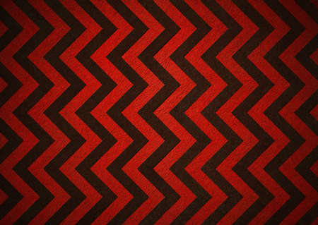 Retro red background of black chevron stripes, background has patterned wallpaper and vintage grunge background texture design, old abstract background paper for brochure or web