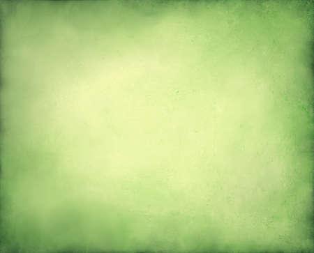 黄色の中央と国境、ライト緑色の紙のページ、古いの抽象的な背景クリスマス デザイン ソフト パステル ビンテージ グランジ背景テクスチャ デザ