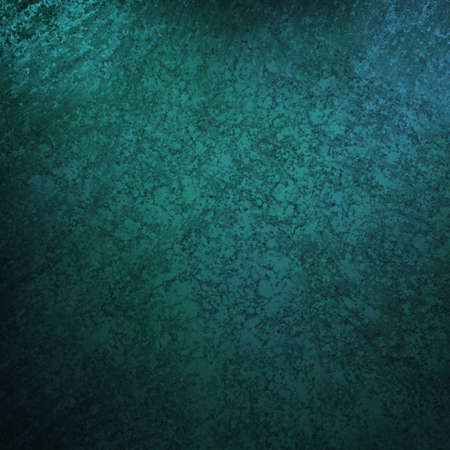 blue background with vintage grunge background texture, black vignette border edge on blue wallpaper design for web template background or abstract blue paper brochure layout color in dark teal photo