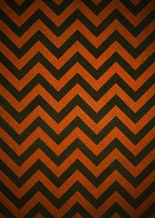 Retro orange background of black chevron stripes, grunge background texture design, abstract background paper, halloween background Stock Photo