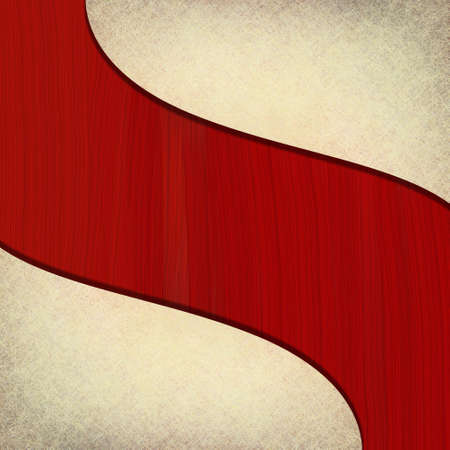 abstract white background with red curvy stripe, for July 4th brochure or sign photo