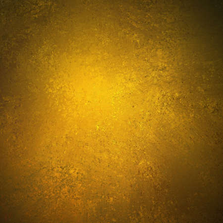 abstract gold background brown color design on border and black vintage grunge background texture, brown gold paper for golden anniversary announcements  Stock Photo