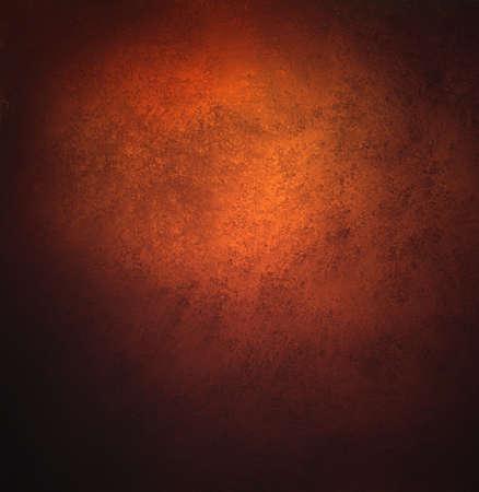 abstract orange background, old black vignette border or frame, vintage grunge background texture design, warm red color tone for autumn or fall season, for brochures, paper or wallpaper, orange wall